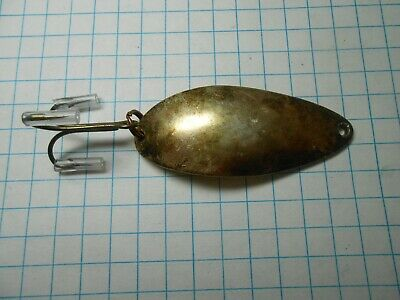 VINTAGE EVANS MFG SUPER DIAMOND SIZE 2 TROLLING SPOON NEW IN PACK BRASS//NICKEL