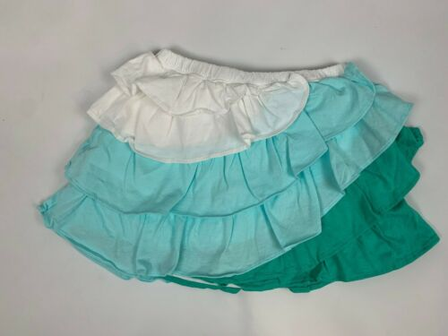 NEW Crazy 8 by Gymboree Teal Aqua White Diagonal Layered Color Block Skirt 5T