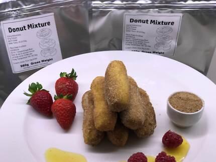 Donut batter Mix 2 kilos and 1 kilo of Donut sugar free postage