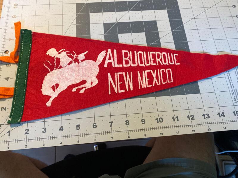 Albuquerque New Mexico Pennant Cowboy Vintage 16 inches long BOX-544E