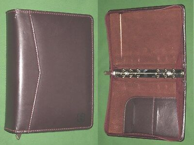 Compact 0.75 Brown Leather Day Runner Planner Binder Franklin Covey 9518