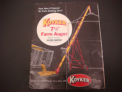1975 Koyker 7 12 Farm Auger Wtilting Hopper Brochure Operators Sheets M4186