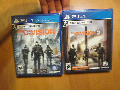 Tom Clancy's The Division 1 & 2 PS4 Sony DAY ONE EDITION NEW  FACTORY SEALED