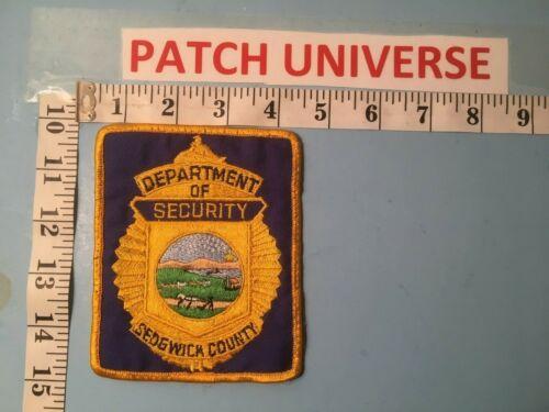 SEDGWICK COUNTY KANSAS DEPT OF SECURITY  SHOULDER PATCH  Q039