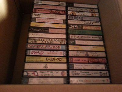 Lot of 30 Grateful Dead live concert audio cassette tapes