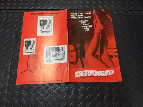 """""""DERANGED"""" PRESSBOOK(1974)"""