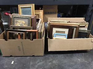 2 boxes of vintage photo frames