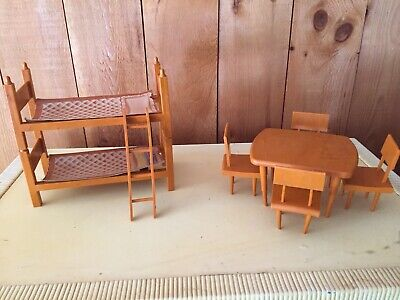 Vintage Payton Plastics Bunk Bed + Table & Chairs GINNY BARBIE 1950s 1960s