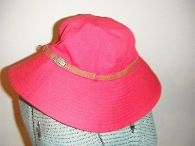 Womens Nine West Red Sun Safe 50+ UV Protection Hat NWT