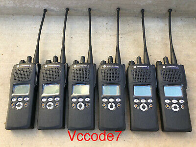 6 Motorola Xts2500 Ii 800mhz P25 Digital Radios H46ucf9pw6bn New Front Housing