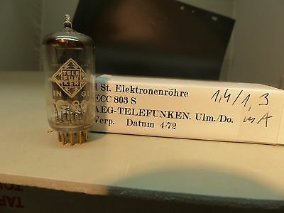 1x ECC803-S TELEFUNKEN NOS NEW UNUSED Tube Röhre Valvola Holy Grail <>