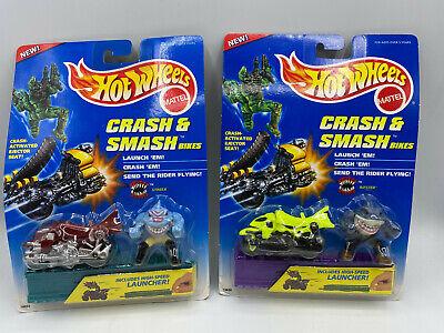 Hot Wheels Crash & Smash Bikes Street Sharks Ripster & Streex Diecast Lot