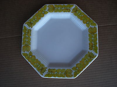 "Independence Ironstone YELLOW BOUQUET Octagon 6.5"" Dessert/Bread Plate JAPAN"