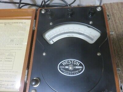 Weston Electric High Frequency Volt Meter