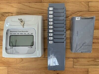 Electronic Non-calculating Time Clock Punch Card System Grey Rxgc007gy