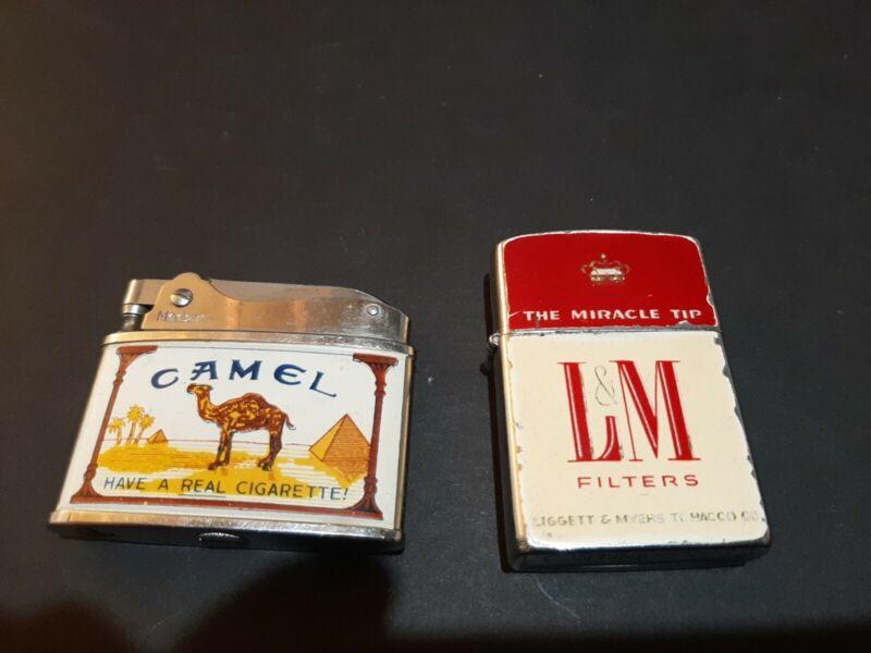 2 Vintage Lighters (CAMEL & L&M FILTERS)
