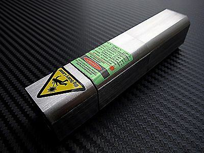 ▓▒░USA SELLER░▒▓ Wicked Cuboid Stainless Steel Green Laser Pointer 520nm