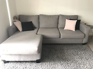 Grey Couch with chaise - Liverpool Liverpool Area Preview