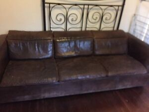 Swedish leather couches 3 & 2 seater set Hawthorn Boroondara Area Preview