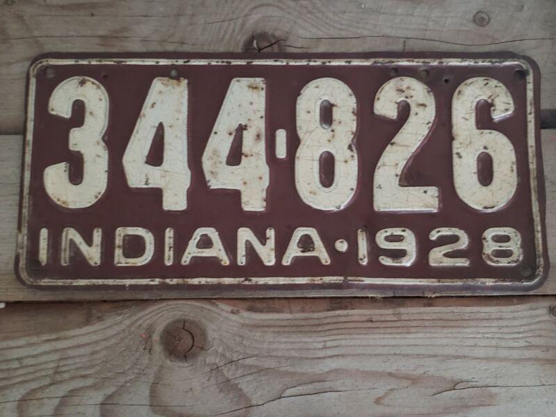Vintage Indiana 1928 License Plate
