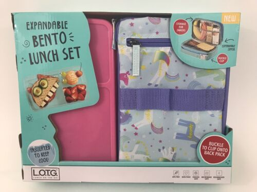 fit and fresh bento lunch set purple