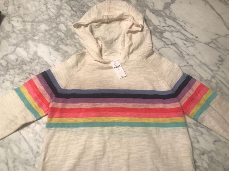 Gap Kids XL NWT Rainbow Ivory Sweater Hoodie