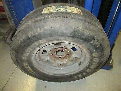 72 73 1973 Chevelle K-1-2 Steel Wheel Tiger Paw G70-14 Polyglas Tire w/ sticker