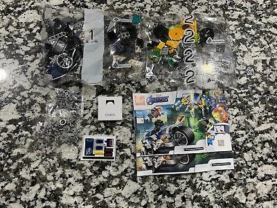 LEGO Marvel Avengers Speeder Bike Attack Set 76142 New w/ Sealed Pkgs - NO BOX
