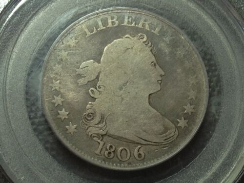 1806  PCGS G-4   Looks Better  Draped Bust Quarter     Nice Coin
