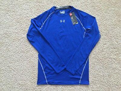 UNDER ARMOUR Heat Gear Sonic Long Sleeve Compression Shirt men 1257471 Blue