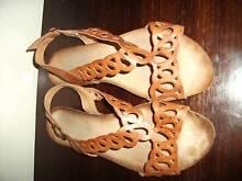 Ladies tan sandals size 39 Geebung Brisbane North East Preview