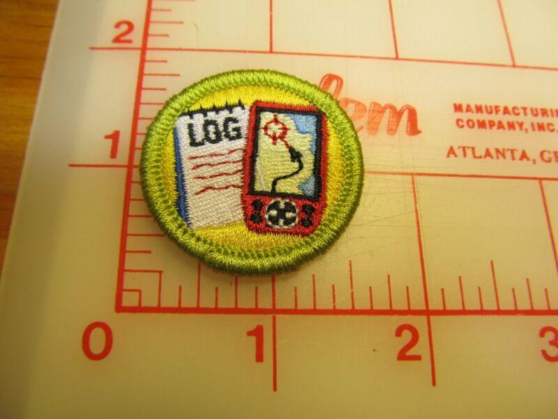 BSA 2010 backed GEOCACHING merit badge emblem patch (rU)