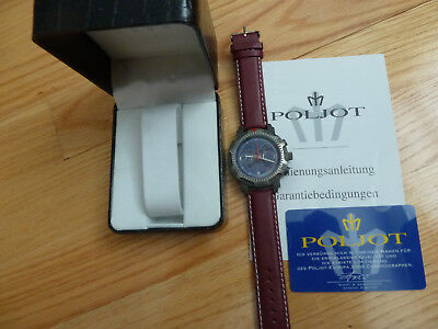 NEW RARE! POLJOT EUROPE 2000 Chronograph TITANIUM Russian Watch mechanical LTD