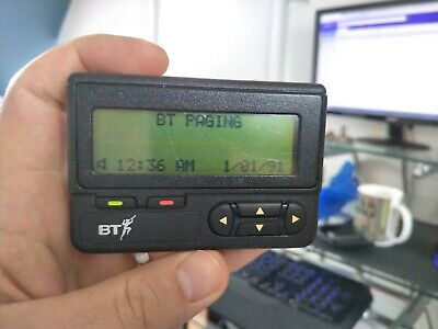 Vintage BT 34A Motorola Advisor Mercury pager AK66 black beeper collectors item