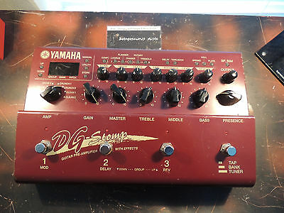 - YAMAHA DG STOMP MULTI EFFECTS PROCESSOR PEDAL AMP MODELLER  WORKS PLEASE READ