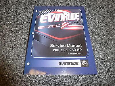 2006 Evinrude 200 225 250 HP E-TEC Outboard Motor Shop Service Repair Manual SD