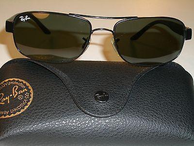 RAY BAN RB3273 006 57[]17mm STUNNING SLEEK G15 GLASS LENS BLACK SUNGLASSES (Super Cheap Ray Bans)