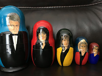 Bill Clinton Russian Nesting Dolls - Monica Lewinsky - 5 Piece Set - Nestling