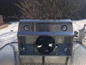 Stainless steel kitchen fan/ hotte en acier inoxydable