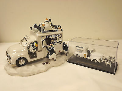 Franklin Mint Good Humor Penguin Truck And 1953 Good Humor Chevy Truck