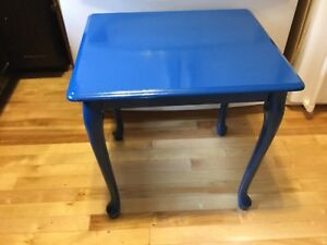 Navy blue single side table- available