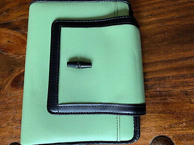 Compact Light Green Faux Leather Franklin Covey 365 Planner Open Binder