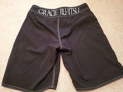 Gracie Jiu Jitsu Black Men's MMA Drawstring Vel-cro Close Shorts Size 34