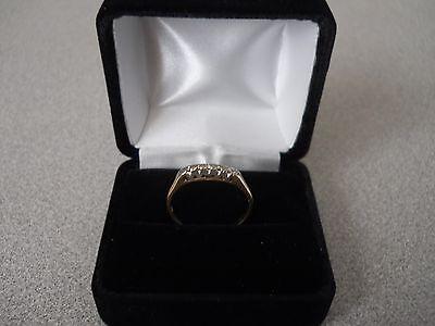 Vintage - 14K Gold Wedding Ring with 5 Diamonds - Size 9 - Engagement