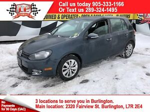 2012 Volkswagen Golf 2.5L, Manual, Power Group, 65,000km
