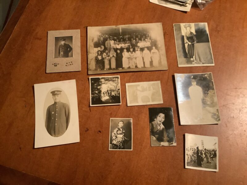 Group Of ORIGINAL WWII JAPANESE PHOTOS:Soldiers and civilians