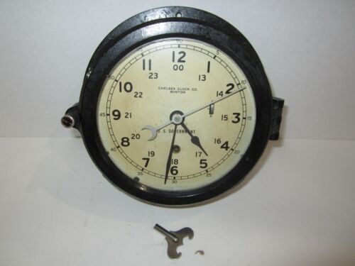 "CHELSEA CLOCK CO. BOSTON U.S. GOVERNMENT CLOCK 6"" DIAL"