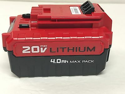 New Porter Cable Pcc685l Genuine Oem 20V Max Lithium Ion 4 0 Amp Hour Battery