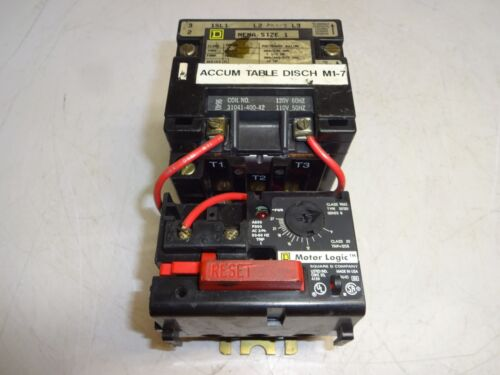 SQUARE D 8536SCO3 MOTOR STARTER WITH 9065SS120