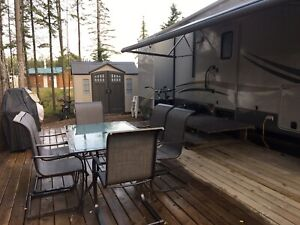 Lot and trailer for sale at Candle Lake Golf Resort